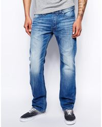 Diesel Jeans Safado 830y Straight Fit Light Wash - Lyst