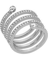 Michael Kors - Pavé Spiral Ring - Lyst