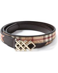 Burberry 'Haymarket Check' Belt - Lyst