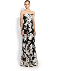 Notte By Marchesa Strapless Soutache Gown - Lyst