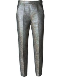 MSGM Glitter Cropped Trousers - Lyst