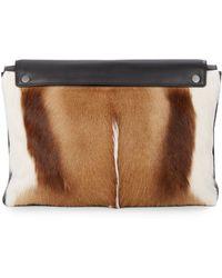 3.1 Phillip Lim - Antelope Fur & Leather Portfolio Bag - Lyst