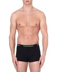 Emporio Armani Pack Of Two Eagledetailed Trunks Black - Lyst