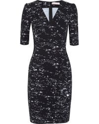 Matthew Williamson Starlight Printed Stretch Cotton Twill Dress - Lyst