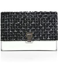 Proenza Schouler Woven Two-Tone Small Lunch Bag - Lyst