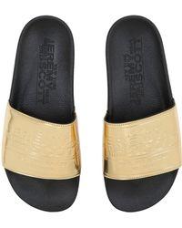 Jeremy Scott for adidas - Js Adilette Plaque Slide Sandals - Lyst