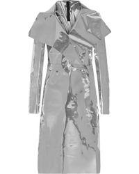 Gareth Pugh Mirrored Pu Coat silver - Lyst