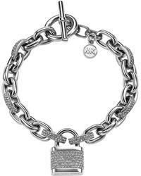 Michael Kors Pave Padlock Bracelet - Lyst
