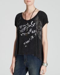 Free People Tee - Graphic Embellished - Lyst