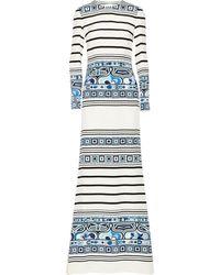 Emilio Pucci Printed Silk Crepe De Chine Gown - Lyst
