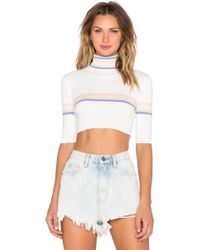 UNIF Relly Crop Top - White