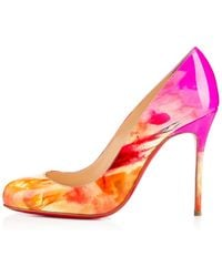 Christian Louboutin Fifi Patent Tie And Dye - Lyst