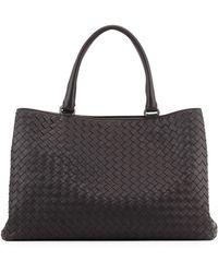 Bottega Veneta Intrecciato Leather Tote Bag - Lyst