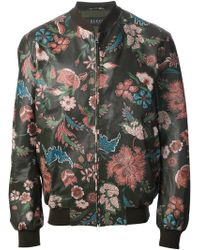 Gucci Floral Print Bomber Jacket - Lyst