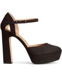 H&M Black Platform Sandals - Lyst