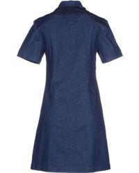 Antipodium Short Dress - Blue