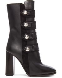 Isabel Marant Arnie Brandebourg Leather Boots - Black