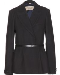 Burberry Brit Drumleigh Double Wooltwill Pea Coat - Lyst