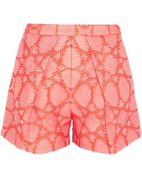 MSGM Cotton-Blend Jacquard Shorts - Lyst