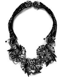 Miriam Haskell 'Jet Starburst' Multi Bead Strand Necklace - Lyst
