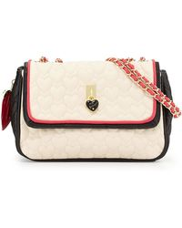 Betsey Johnson Be My Everything Quilted Fauxleather Shoulder Bag - Lyst