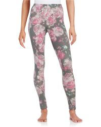 Life Is Good. - Floral Knit Leggings - Lyst