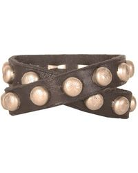 Will Leather Goods - Studded Wrap Cuff - Lyst