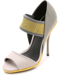 L.A.M.B. Barrie Sandals - Grey/Yellow - Lyst