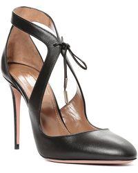 Aquazzura Stella 105 Heels black - Lyst