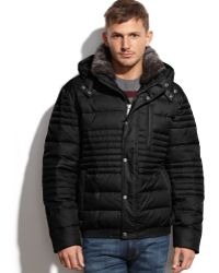 Marc New York Dave Hooded Fur-Collar Ultra Down Jacket - Lyst