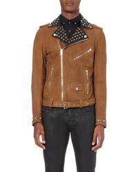 Diesel L-Ulisses Studded Leather Jacket - For Men gray - Lyst