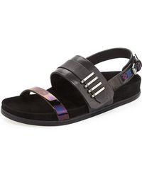 L.A.M.B. Bradyn Flat Sandal black - Lyst