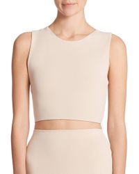 Alice + Olivia Twist-Back Cropped Top - Lyst