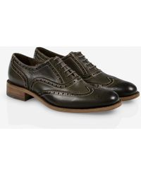 Paul Smith Dip-Dyed Olive Green Leather 'Milena' Brogues - Lyst