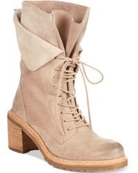 Kenneth Cole Reaction Womens Rocky Me Laceup Booties - Lyst