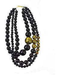 Masterpeace Triple Strand Hohloma Necklace - Lyst