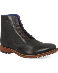 Ted Baker Sealls Wingcap Boots Black - Lyst