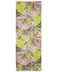 Pashma | Watercolour Floral Print Silk-cashmere Scarf | Lyst