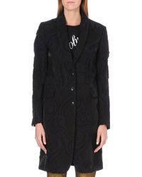 Ann Demeulemeester Paisley Embroidered Coat Black - Lyst