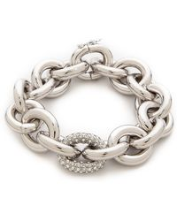 Eddie Borgo - Pave Link Chain Bracelet - Silver - Lyst