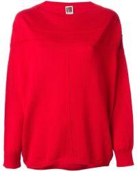 Isola Marras Slash Neck Sweater - Red