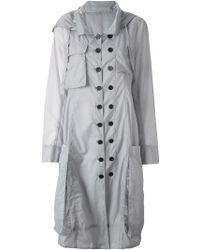 Rundholz - Double-Breasted Hooded Coat - Lyst