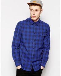 Wesc Long Sleeve Check Shirt - Lyst