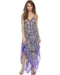 fd0de55d02f9 Theodora   Callum - Malaga Scarf Dress - Purple Multi - Lyst