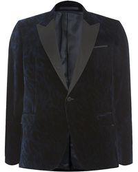 Versace Leopard Print Velvet Blazer - Lyst
