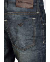 Emporio Armani Low Rise Blue Vintage Wash Jeans