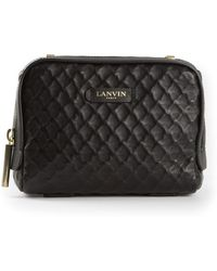 Lanvin Quilted Shoulder Bag - Lyst