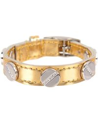 CC SKYE The Signature Screw Bracelet With Silver Pave - Lyst