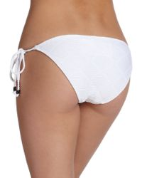 Shoshanna Diamond-Textured String Bikini Bottom white - Lyst