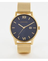 Unknown - Dandy Mesh Watch In Gold - Lyst